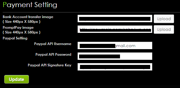 modify chmanager booking plugin setting paypal api data