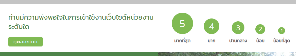 shortcode rating system for thai government agency website rating design